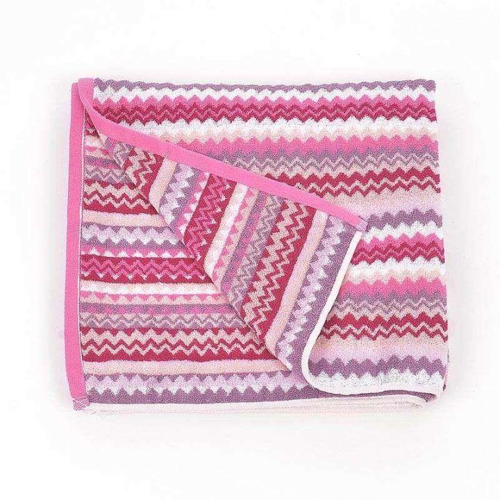Πετσέτα θαλάσσης ριγέ Modern Pink