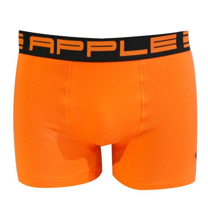 Ανδρικό μπόξερ Apple με διχρωμία στο εξωτερικό λάστιχο Πορτοκαλί