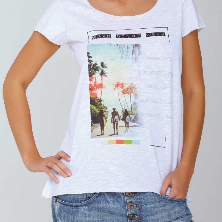 Γυναικεία κοντομάνικη μπλούζα Βeach by Jadea