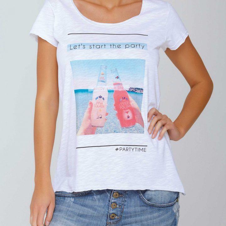 Γυναικεία κοντομάνικη μπλούζα Bottles by Jadea