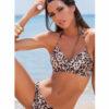 Γυναικείο μαγιό top σταυρωτό Leopard Blu4u