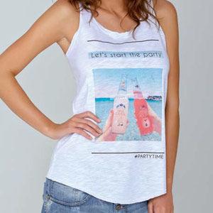 Γυναικεία μπλούζα τιράντα Bottles by Jadea