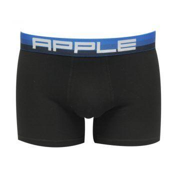 Ανδρικό μπόξερ Apple με διχρωμία στο λάστιχο Μαύρο Μπλέ