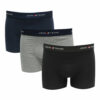 Ανδρικό μπόξερ 3 pack black-blue-grey John Frank