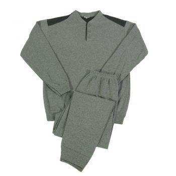 Ανδρική πυτζάμα μονόχρωμη με πατιλέτα Irge Grey