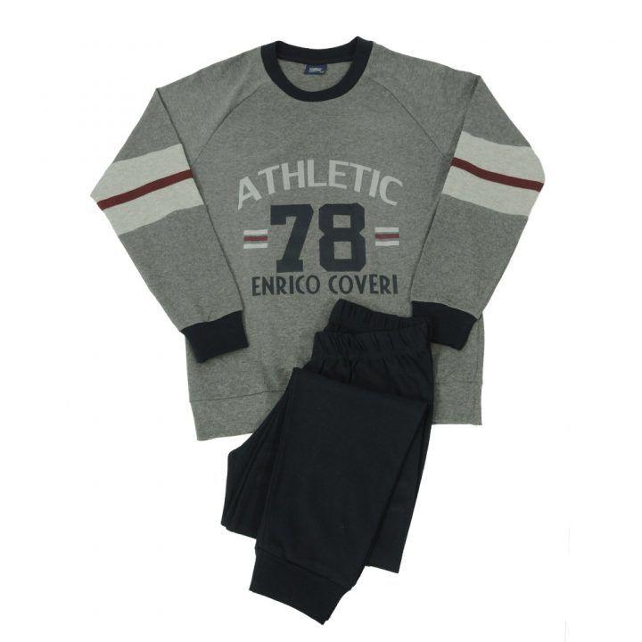 Ανδρική πυτζάμα με τύπωμα Athletic 78 Enrico Coveri