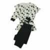 Γυναικεία βαμβακερή πυτζάμα Black & White Hearts