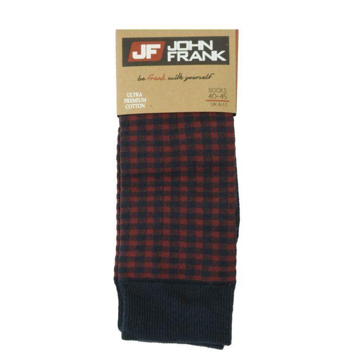 Ανδρική κάλτσα  John Frank σχέδιο Blocks