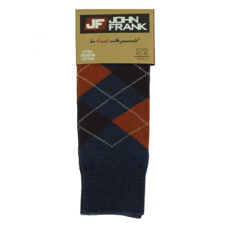 Ανδρική κάλτσα  John Frank σχέδιο Burl