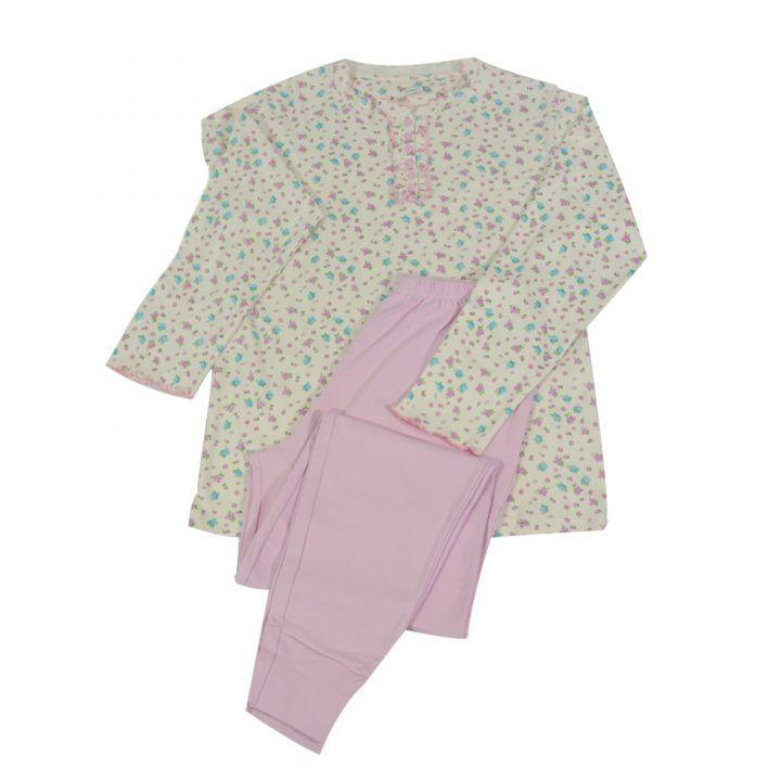 Γυναικεία πυτζάμα Classic Line με πατιλέτα σε ροζ αποχρώσεις
