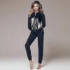 Γυναικείo σετ homewear με δερμάτινη λεπτομέρεια  Jadea