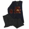 Γυναικεία πυτζάμα σχέδιο Bear με πουά παντελόνι Harmony