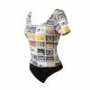 Γυναικείο κορμάκι all over print κοντομάνικο