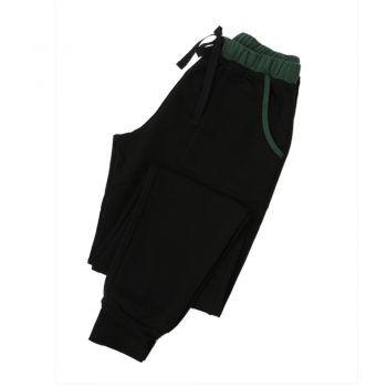 Ανδρικό παντελόνι φόρμας Mei μαύρο κυπαρισσί