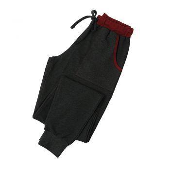 Ανδρικό παντελόνι φόρμας Mei ανθρακί μπορντώ