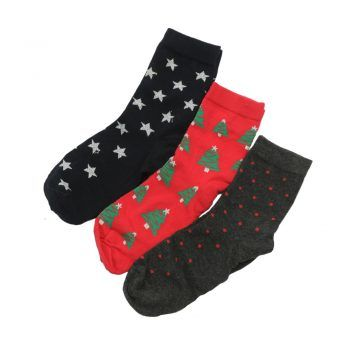 Γυναικεία κάλτσα X-mas 3 τεμαχίων
