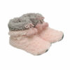 Γυναικείο μποτάκι με εσωτερική επένδυση ροζ γκρι