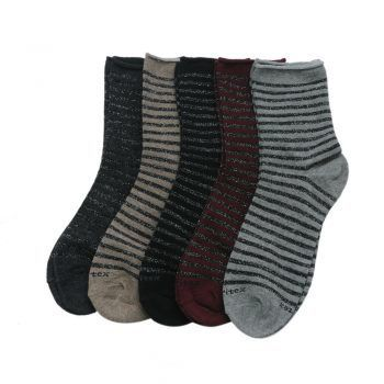 Γυναικεία κάλτσα ριγέ μεταλιζέ Meritex