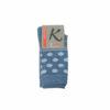Γυναικεία κάλτσα ριγέ με πουά σε διάφορα χρώματα