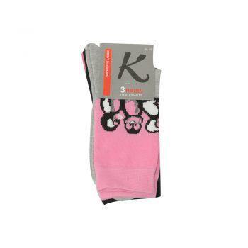 Γυναικεία κάλτσα σχέδιο Penguin 3pack σε διάφορα χρώματα