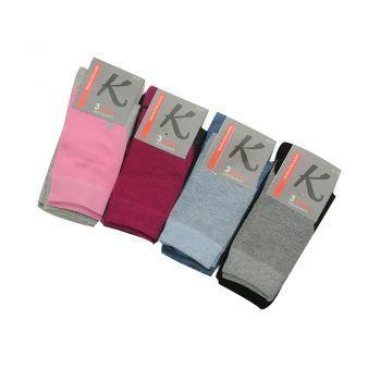 Γυναικεία κάλτσα μονόχρωμη 3pack σε διάφορα χρώματα