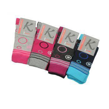 Γυναικεία κάλτσα σχέδιο κύκλοι 3pack σε διάφορα χρώματα