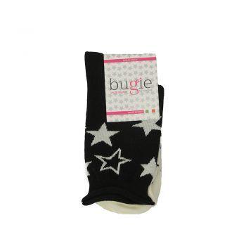 Γυναικεία κάλτσα μαύρη με σχέδιο Αστέρια
