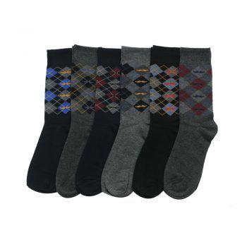 Ανδρική κάλτσα βαμβακερή με σχέδιο σε διάφορα χρώματα
