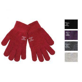 Γυναικεία γάντια πλεκτά μονόχρωμα