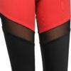 Γυναικείο κολάν μονόχρωμο μαύρο κόκκινο με διαφάνεια