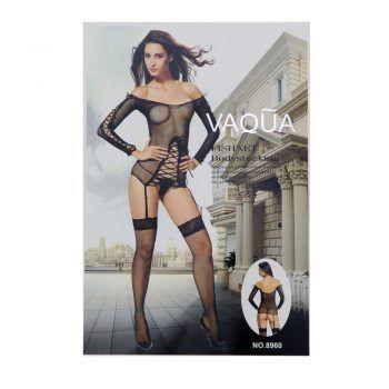 Γυναικείο sexy σετ δίχτυ με ζαρτιέρες