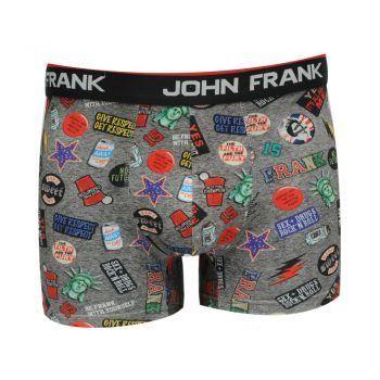 Ανδρικό βαμβακερό μπόξερ John Frank σχέδιο Cool