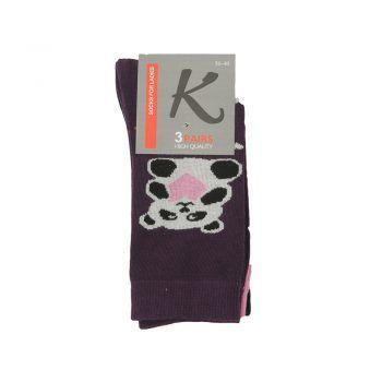 Γυναικεία κάλτσα σχέδιο Panda 3pack σε διάφορα χρώματα