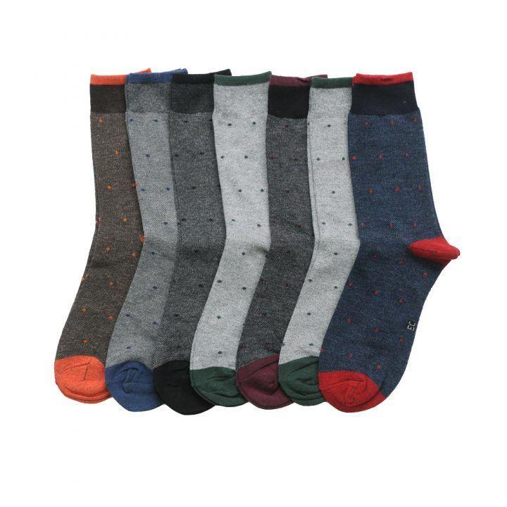 Ανδρική κάλτσα βαμβακερή πουά σε διάφορα χρώματα Enrico Coveri