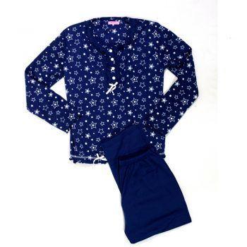 Γυναικεία πυτζάμα σχέδιο Stars μπλε