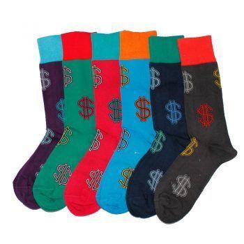 Ανδρική κάλτσα βαμβακερή σχέδιo Dollars