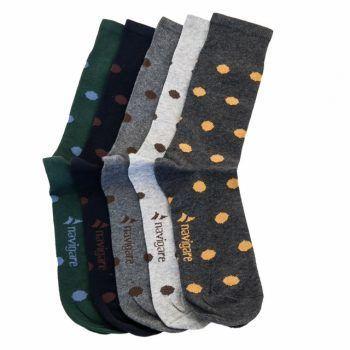 Ανδρική κάλτσα βαμβακερή αντιολισθητική πουά