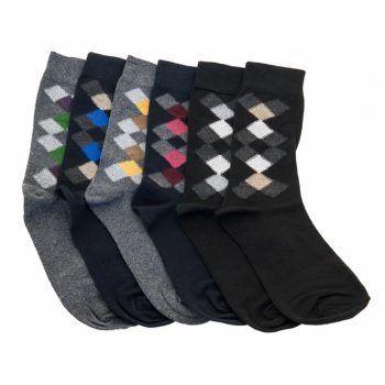 Ανδρική κάλτσα βαμβακερή σχέδιο ζακάρ