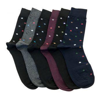Ανδρική κάλτσα βαμβακερή σχέδιo Stars