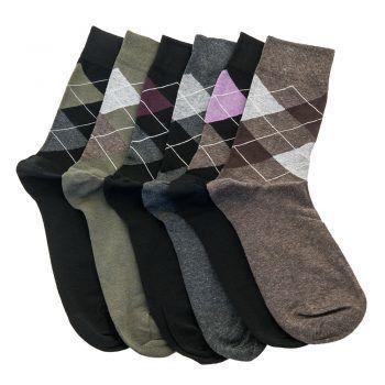 Ανδρική κάλτσα βαμβακερή σχέδιo ζακάρ