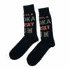 Ανδρική κάλτσα βαμβακερή σχέδιo Drinks