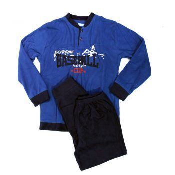 Ανδρική πυτζάμα fleece σχέδιο Baseball