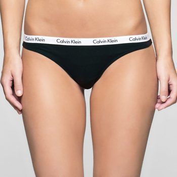Γυναικείο στρινγκ Calvin Klein μαύρο