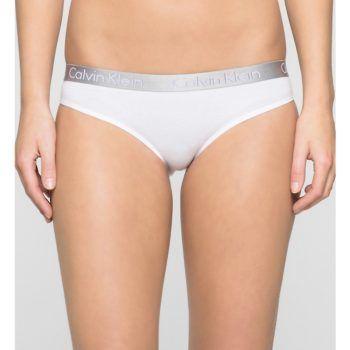 Γυναικείο λευκό βαμβακερό σλιπ Calvin Klein