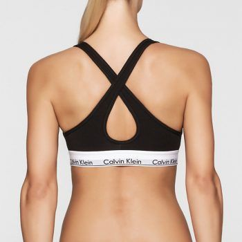 Bralette Calvin Klein βαμβακερό σε μαύρο χρώμα