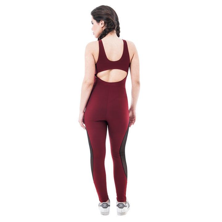 Γυναικεία αθλητική ολόσωμη φόρμα γυμναστικής με διαφάνεια