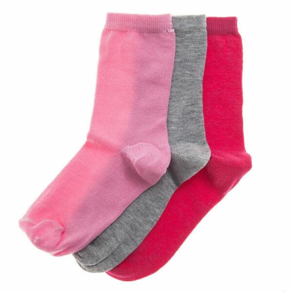 Κάλτσες για κορίτσια 3 τεμάχια βαμβακερές