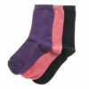 Κάλτσα βαμβακερή παιδική για κορίτσια 3 τεμάχια