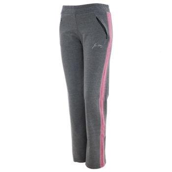 Αθλητικό γυναικείο παντελόνι γκρί/ροζ