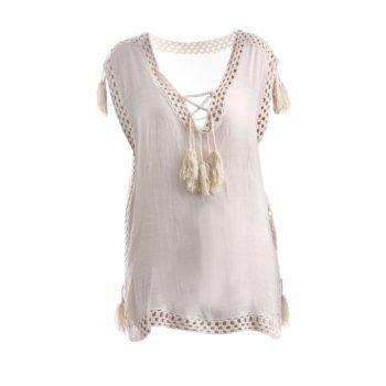 Γυναικεία μπλούζα με κέντημα BLE